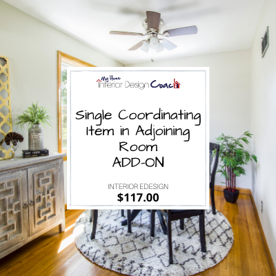 single coordinating item add on