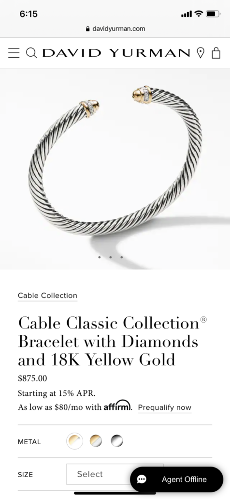 This image has an empty alt attribute; its file name is David-Yurman-Silver-Twisted-Cable-bracelet-476x1030.png