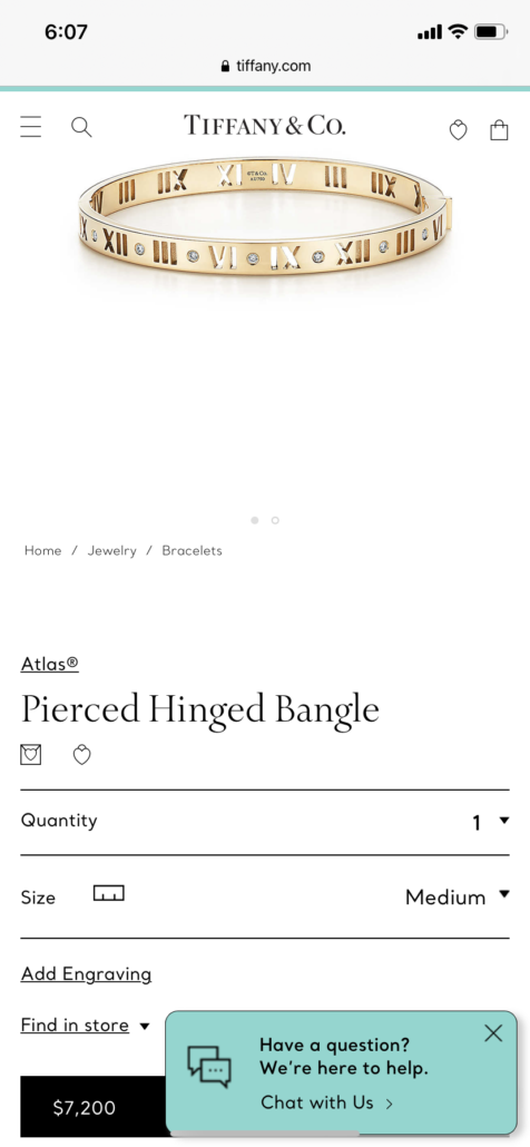 This image has an empty alt attribute; its file name is Tiffany-bracelet-roman-numerals-476x1030.png